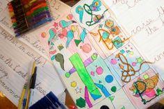 Illuminating Manuscript lesson for creative cursive