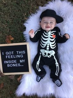 Girl Names Discover Baby boy Letterboard photos Halloween pics Fall pictures Skeleton outfit Skeleton moccs Hobby lobby George Hats Halloween Baby Pictures, Fall Baby Pictures, Baby First Halloween, Newborn Pictures, Funny Baby Pictures, Holiday Pictures, Baby Monat Für Monat, 6 Month Baby Picture Ideas, Milestone Pictures