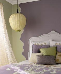 Schlafzimmer Streichen Ideen Flieder Pastellgelb