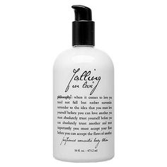 "Gifts For the Jane Austen Fan: With notes of vanilla, jasmine, and lily of the valley, Philosophy's ""Falling in Love"" body lotion ($34) is the perfect pick for a hopeless romantic."