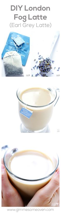 DIY London Fog Latte (Earl Grey Latte) -- so easy to make at home, and SO much cheaper than Starbucks! gimmesomeoven.com