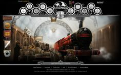 The Hogwarts Express from upcoming site Pottermore.com