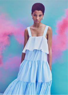 As #cores do Ano: #Pantone de 2016, #RoseQuartz & #Serenity | #Pantone2016 #ColorOfYear #outfit #zara #vestido #SpringCollection