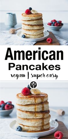 Super fluffy and vegan American pancakes.nataschakimbe … // Super fluffy and vegan American pancakes. Vegan Breakfast Recipes, Brunch Recipes, Vegan Recipes, Drink Recipes, Pancake Recipes, Pastry Recipes, Vegan Snacks, Cooking Recipes, Pancakes Végétaliens