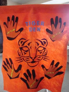 Tiger Den Flag Idea : Akela Hand Behind Child Hand : Working Hand-in-Hand Cub Scout Crafts, Cub Scout Activities, Craft Activities, Scout Games, Tiger Scouts, Wolf Scouts, Cub Scouts, Scout Mom, Daisy Girl Scouts