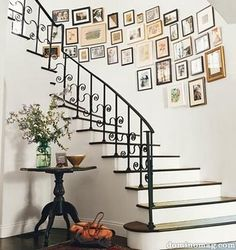 Eclectic Staircase featured in Domino mag.