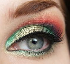 In love with red shadow... want to try this combo for spring time
