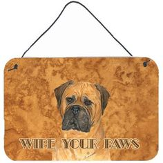 Caroline's Treasures Bullmastiff Wipe Your Paws by Suzanne Staines Graphic Art Plaque
