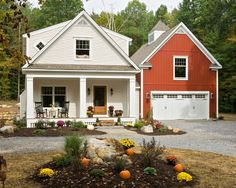 Exterior Farmhouse Exterior Red Design, Pictures, Remodel, Decor and Ideas