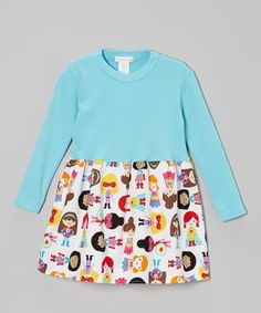 Love this Turquoise Super Hero Girl Dress by Alejandra Kearl Designs- Infant, Toddler & Girls on zulily today!