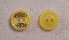 """6 Yellow Buttons Czech Glass Transparent Hexagon Plain 1//2"""" 13 mm bfeyw0126"""