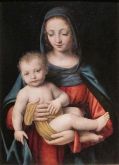 Madonna and Child, Bernardino Luini, born as Bernardino Scapi Blessed Mother Mary, Divine Mother, Blessed Virgin Mary, Religious Images, Religious Art, Healing Images, Healing Quotes, Renaissance, Hail Holy Queen