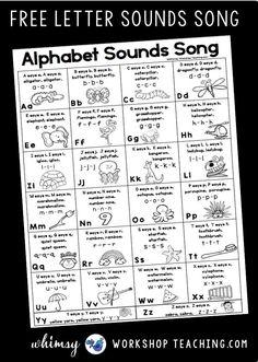 Kindergarten Songs, Preschool Songs, Preschool Literacy, Preschool Letters, Letter Activities, Preschool Lessons, Teaching Kindergarten, Teaching Reading, Teaching Kids