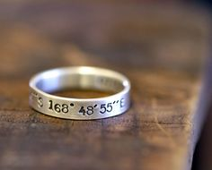 Personalized name ring by monkeysalwayslook on Etsy, $44.00