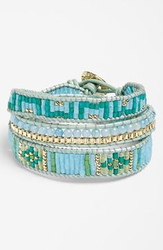 Want one in every color.  Nakamol Design Beaded Wrap Bracelet | Nordstrom