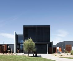 the contemporary dwelling by lachlan shepherd architects is designed as a home for a couple and their dalmatian and also a hotel for their guests.