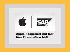 Apple arbeitet ab sofort mit dem deutschen Software-Konzern SAP zusammen: http://www.b1-blog.de/partnerschaft-zwischen-sap-und-apple/