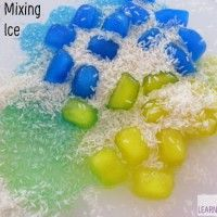 Rice and Ice Sensory Activity is a fun activity to play with rhyming words, scientific concepts and learn about primary colour mixing with all the benefits of sensory play. Eyfs Activities, Sensory Activities Toddlers, Color Activities, Sensory Art, Sensory Bins, Multi Sensory, Sensory Table, Mixing Primary Colors, Color Mixing