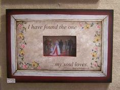 I have found the one my soul loves picture frame hand made by laurie sherrell maurey by lauriesherrell on Etsy