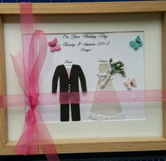 Wedding Keepsake in pastel colours