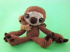 Ravelry: Sloth and Baby Sloth pattern by Laura Kaltman