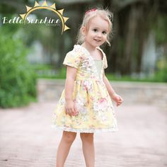 Coffee Shop Lace Dress - PDF Sewing Pattern by Bella Sunshine Designs for sizes 12m through girls 12 - I'm in love with the lace trim on this dress!! What little girl doesn't need a handmade dress with lace? Putting this on my must buy list! Repin for later!
