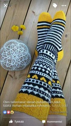 Knitted Boot Cuffs, Knitted Slippers, Wool Socks, Knitting Socks, Baby Knitting, Knitting Projects, Crochet Projects, Knitting Patterns Free, Crochet Patterns