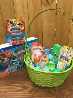 Skylanders Easter basket ideas AD