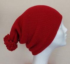 RED Double layered HAT  Icelandic Production by HuldaGK on Etsy
