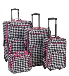 I luv them!     Rockland Luggage 4 Piece Luggage Set, Pink Kensington, One Size Rockland,http://www.amazon.com/dp/B0014EAP5Q/ref=cm_sw_r_pi_dp_AV13rb0CVBZS6TSK