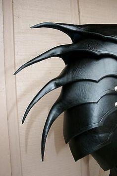 Single Leather War Wolf Spaulder Armor Elric of Melnibone Articulated Cosplay | eBay