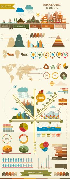 Infographic elemets by Adina Neculae, via Behance