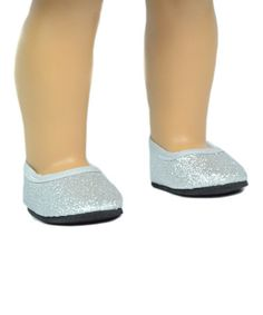 Look at this #zulilyfind! Silver Glitter Flats for 18'' Doll #zulilyfinds