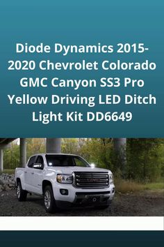 The Stage Series LED Ditch Light Kit for the 2015-2020 GMC Canyon allows you to easily mount two SS3 or SSC2 Pods above the hood. These application-specific brackets were CAD-designed to install using factory mounting points. Best LED Light Lit, GMC Canyon SS3 Light Kit, GMC Canyon Accessories, Canyon Chevrolet Light kit, Best Colorado lighting Kit, GMC 2015 parts, Auto Accessories, Car Parts, Car LED light, Car Interior accessories! #autoparts #caraccessories #gmc #colorado #canyon…