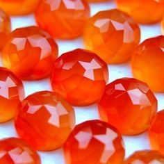 I LOVE ORANGE!!!  Beautiful carnelian gemstones