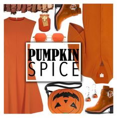"""Monochrome: Pumpkin Spice"" by nendeayesika ❤ liked on Polyvore featuring Delpozo, Jeffrey Campbell, Sleepyville Critters, Urban Decay, Hawkwood and pumpkinspice"