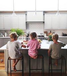 Living With Kids: Courtney Adamo Similar kitchen layout but have the flat island