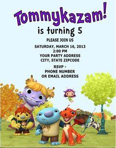 Wallykazam Birthday Party Invitation