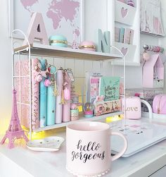 Like the hallway, the spare room — if you& lucky enough to have one — is a space that has so much potential. Alas, even if you decide that it& Girl Bedroom Designs, Room Ideas Bedroom, Bedroom Decor, Cute Room Ideas, Cute Room Decor, Girly Room Decoration, Study Room Decor, Home Office Decor, Home Decor