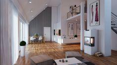Living room interior visualization / Wizualizacja pokoju.