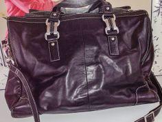 Perlina Soft Black Leather L Hand Bag/tote Bag