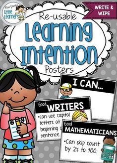 Learning Intention Display Posters {I can statements}
