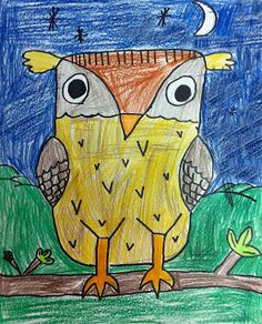 Art Projects for Kids. Step by step tutorial on How to Draw an Owl. Downloadable page included.