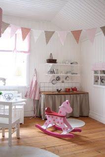 Little play kitchen.