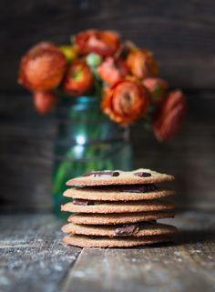 Grain Free, Thin Chocolate Chip Cookies - The Urban Poser Paleo Sweets, Paleo Dessert, Healthy Desserts, Grain Free, Dairy Free, Gluten Free, Thin Chocolate Chip Cookies, Paleo Protein Powder, Paleo Baking