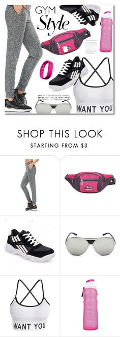 """Work It Out: Gym Essentials"" by fshionme ❤ liked on Polyvore featuring Fitbit and gymessentials"
