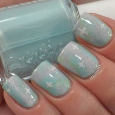 Pastel Colour Nail Art - Galaxy nails
