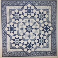 Persian Star quilt pattern from Mary K Ryan 1987 via Etsy