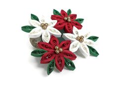 Christmas centerpiece Poinsettia ornament by Herpaperparadise