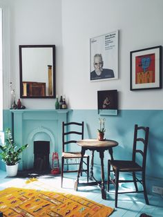 Half-Painted Walls Deliver All the Color, Without All the Effort
